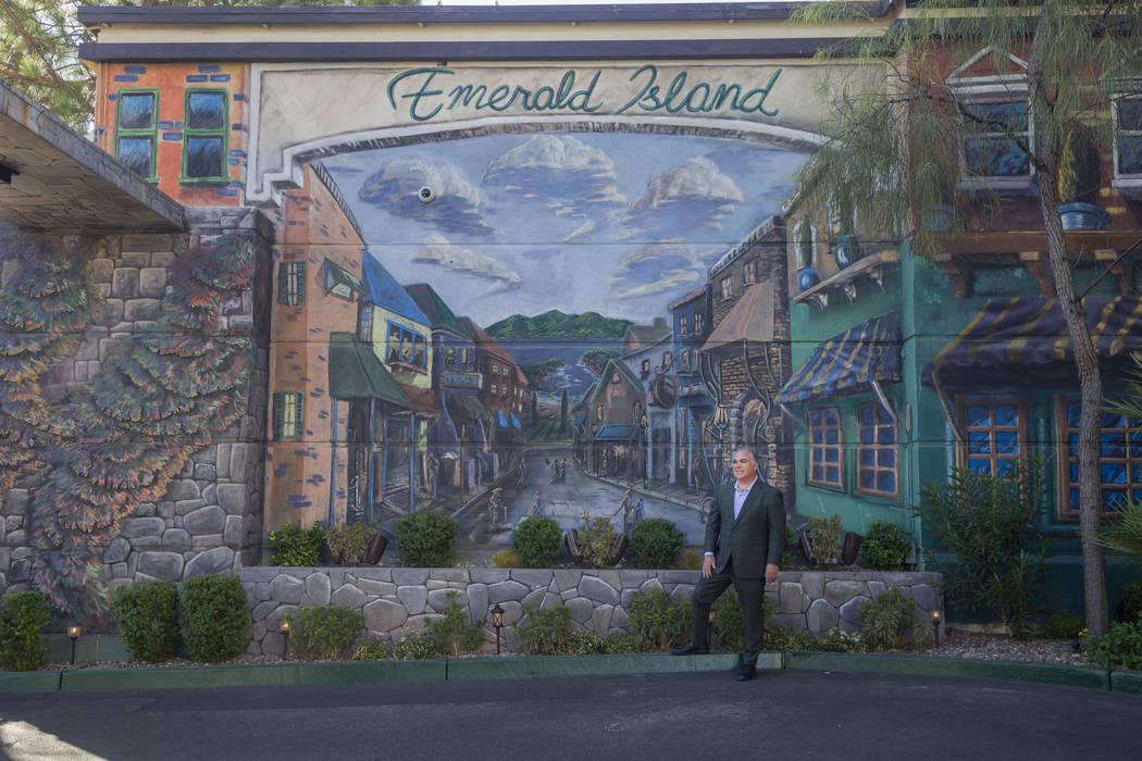 Emerald Island Casino Owner Tim Brooks outside of the Emerald Island Casino off South Water Str ...