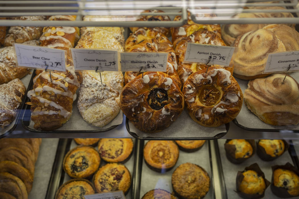 Pasteries for sale at Chef Flemming's Bake Shop on South Water Street in Henderson on Wednesday ...