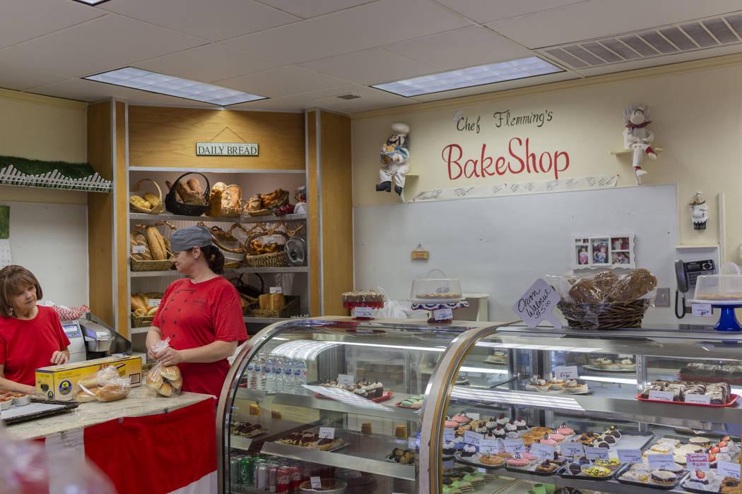Chef Flemming's Bake Shop manager Natalie Buhle, left, and assistant baker Vicki Efurd-White so ...