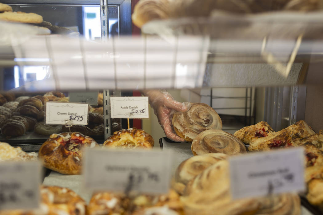 Baked goods for sale at Chef Flemming's Bake Shop on South Water Street in Henderson on Wednesd ...