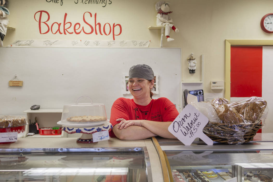 Chef Flemming's Bake Shop assistant baker Vicki Efurd-White at the bakery on South Water Street ...