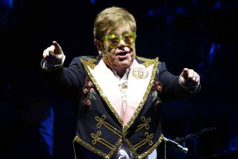 "Elton John performs onstage during his ""Farewell Yellow Brick Road"" final tour at Mad ..."