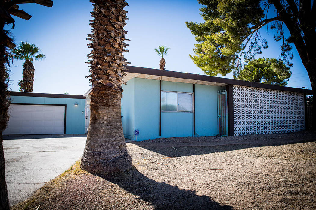 The 1,720-square-foot midcentury rancher is in the Paradise Palms neighborhood and is on the hi ...