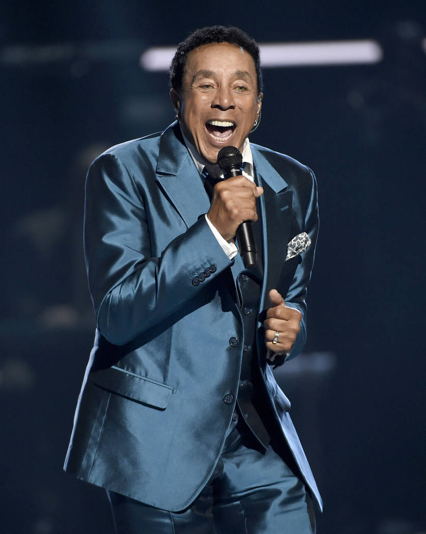 In this June 28, 2015, file photo, Smokey Robinson performs at the BET Awards in Los Angeles. R ...