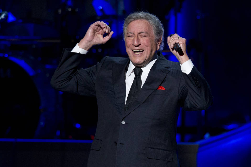 Tony Bennett performs during a tribute concert to Billy Joel, the recipient of the Library of C ...