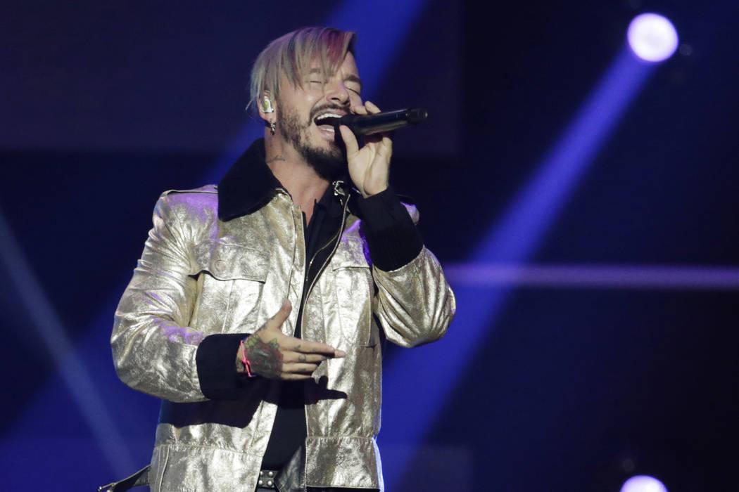 Singer J Balvin performs during the Latin Billboard Awards Thursday, April 27, 2017 in Coral Ga ...