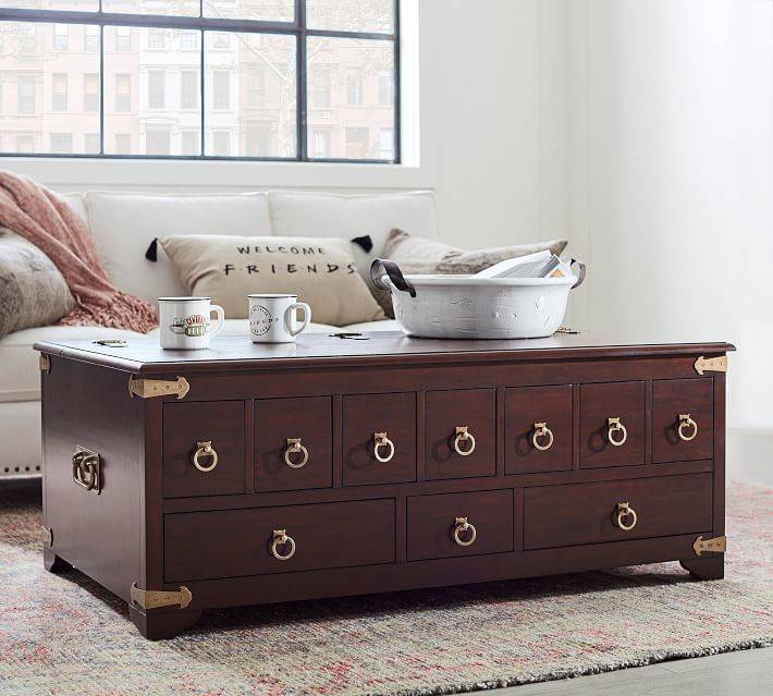 """The """"Friends""""-inspired apothecary table from Pottery Barn. (Pottery Barn)"""