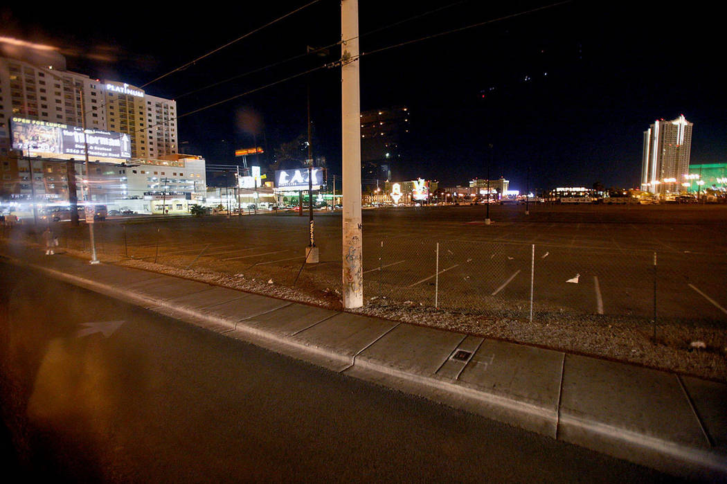 The location where rapper Tupac Shakur was murdered, near the intersection of Flamingo Road and ...