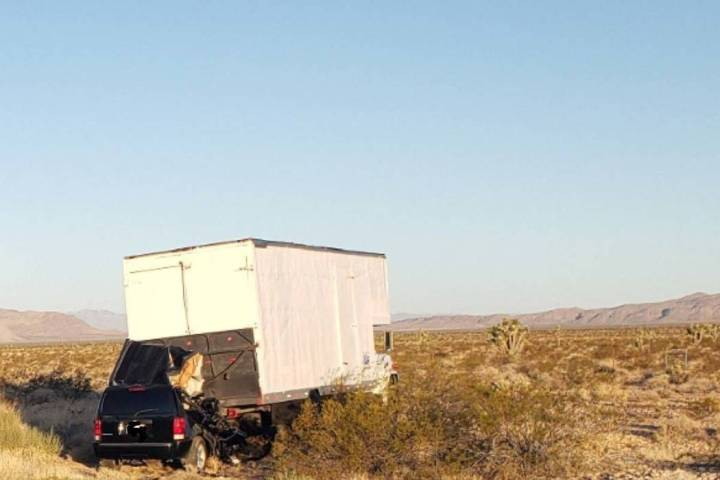One person was killed in a two-vehicle crash on Interstate 15 near Bunkerville on Sunday, Sept. ...