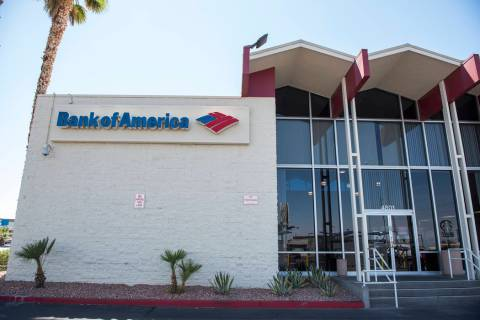 The exterior of a Bank of America Decatur and W. Charleston in Las Vegas. (Las Vegas Review-Jou ...