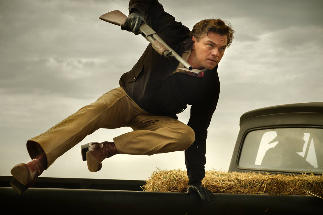 """This image released by Sony Pictures shows Leonardo DiCaprio in Quentin Tarantino's """"Once ..."""