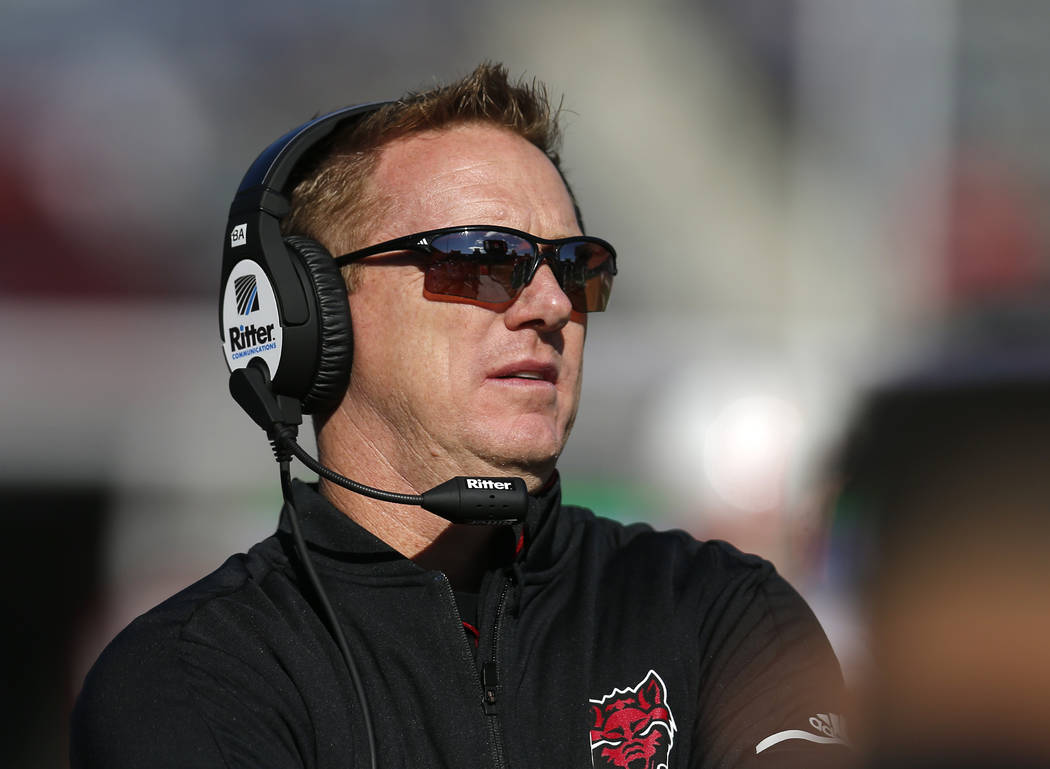 In this Saturday, Dec. 29, 2018, file photo, Arkansas State head coach Blake Anderson is pictur ...