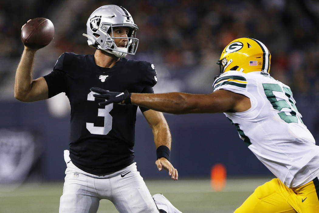 Raiders place QB Nathan Peterman on IR | Las Vegas Review