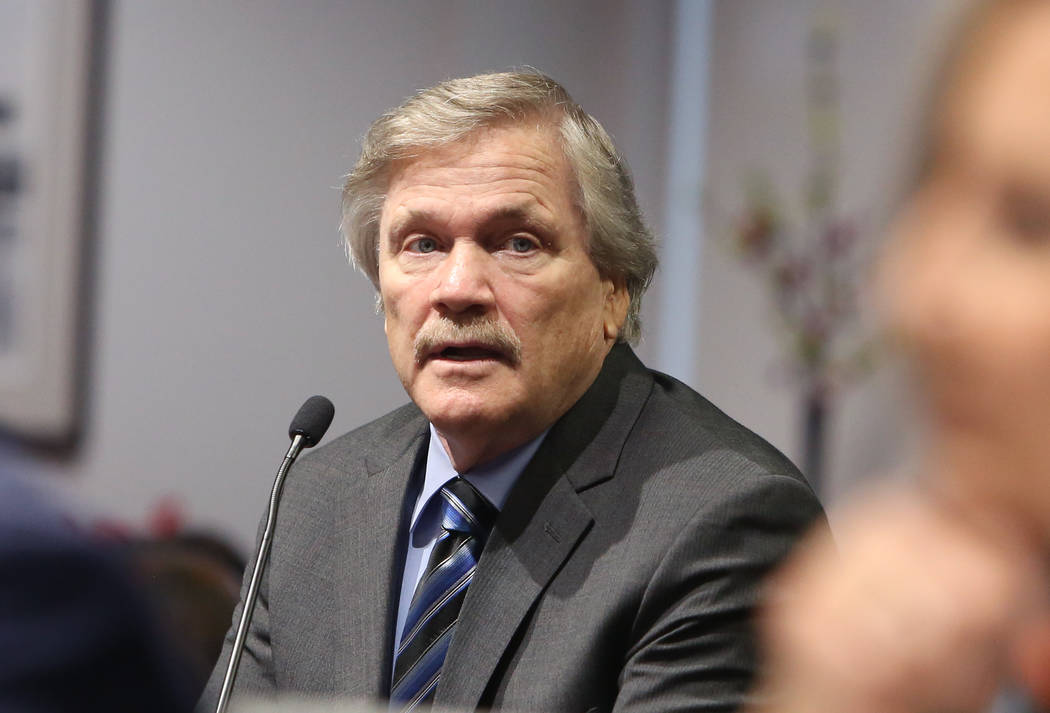 Las Vegas Events President, Pat Christenson, during a LVCVA monthly board meeting on Tuesday, J ...