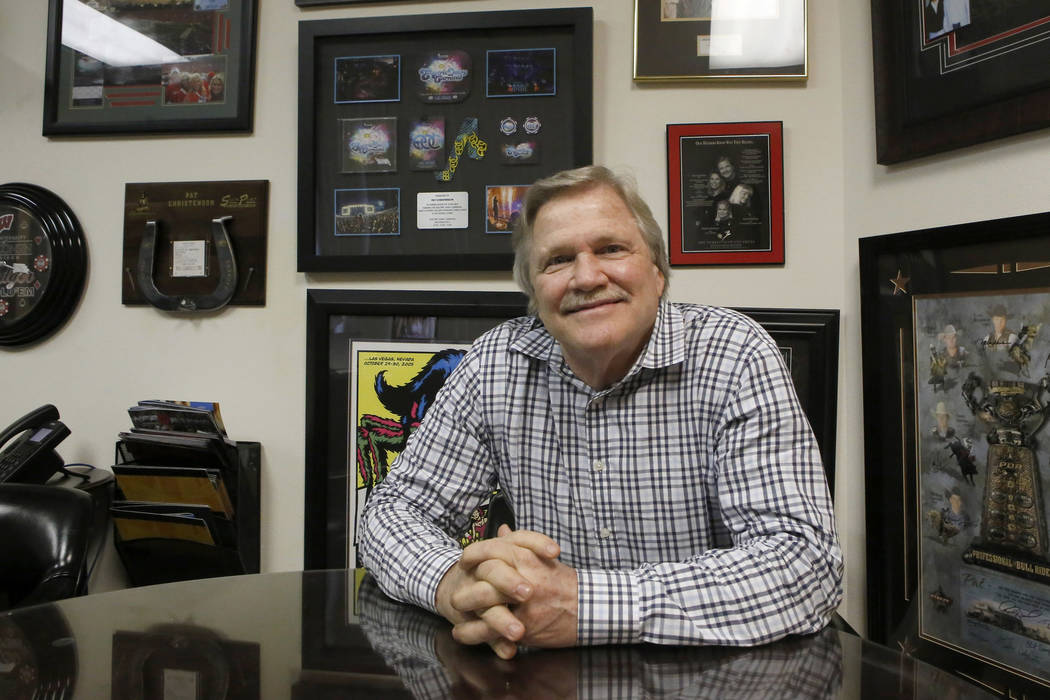 Pat Christenson in his office on Wednesday, March 22, 2017, in Las Vegas. Christenson is the pr ...
