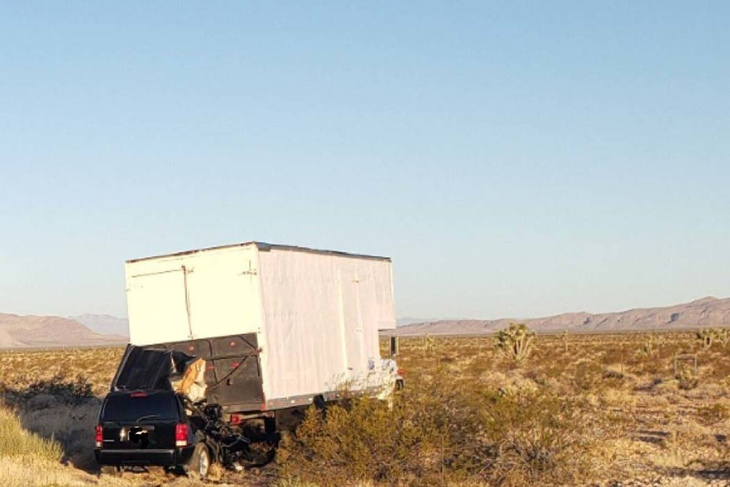 A Utah woman died in a two-vehicle crash on Interstate 15 near Bunkerville on Sunday, Sept. 1, ...