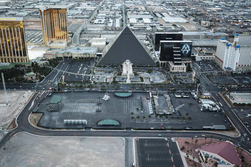 The Las Vegas Village festival grounds, site of the Route 91 Harvest massacre, on the Vegas Str ...