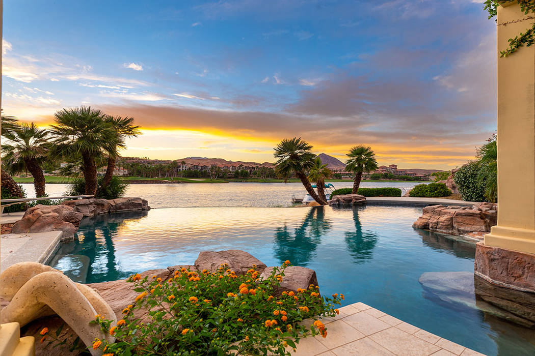 The Lake Las Vegas mansion has a tropical look. (Ivan Sher Group)