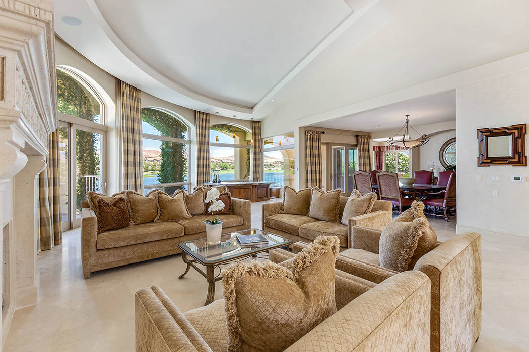 The living room is adjacent to a formal dining room. (Ivan Sher Group)