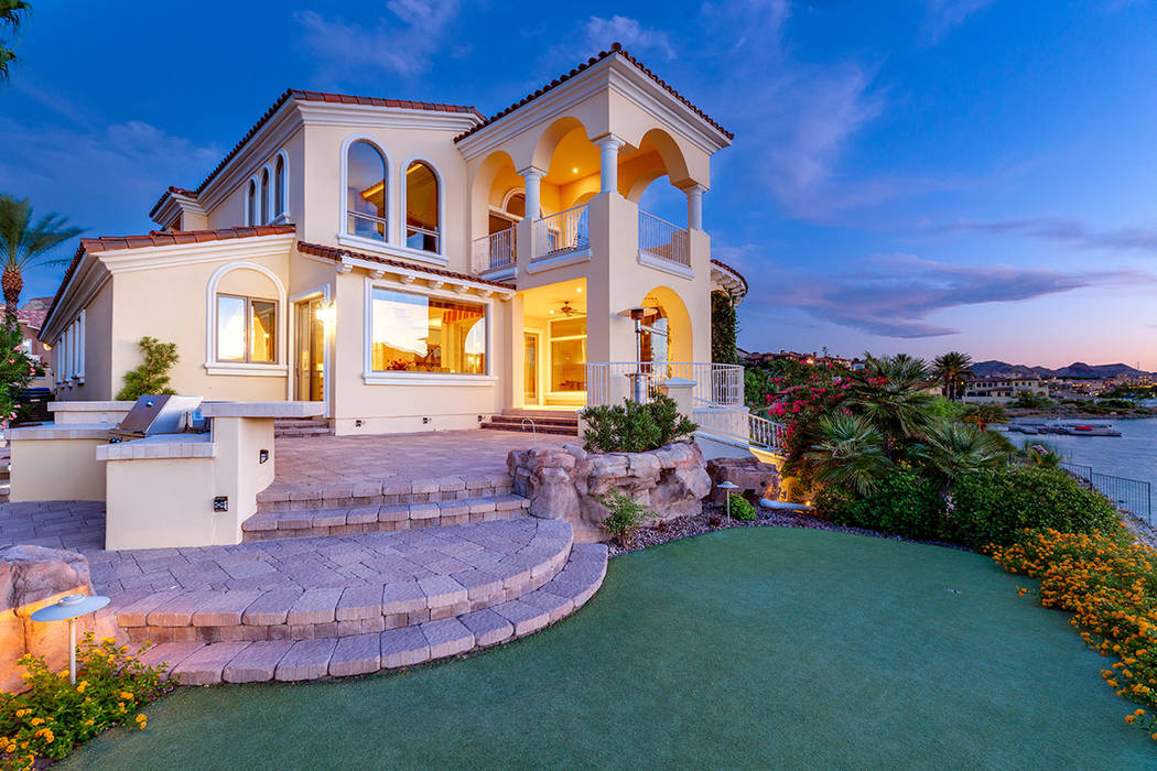 The home has some rare Las Vegas Valley lakefront property. (Ivan Sher Group)