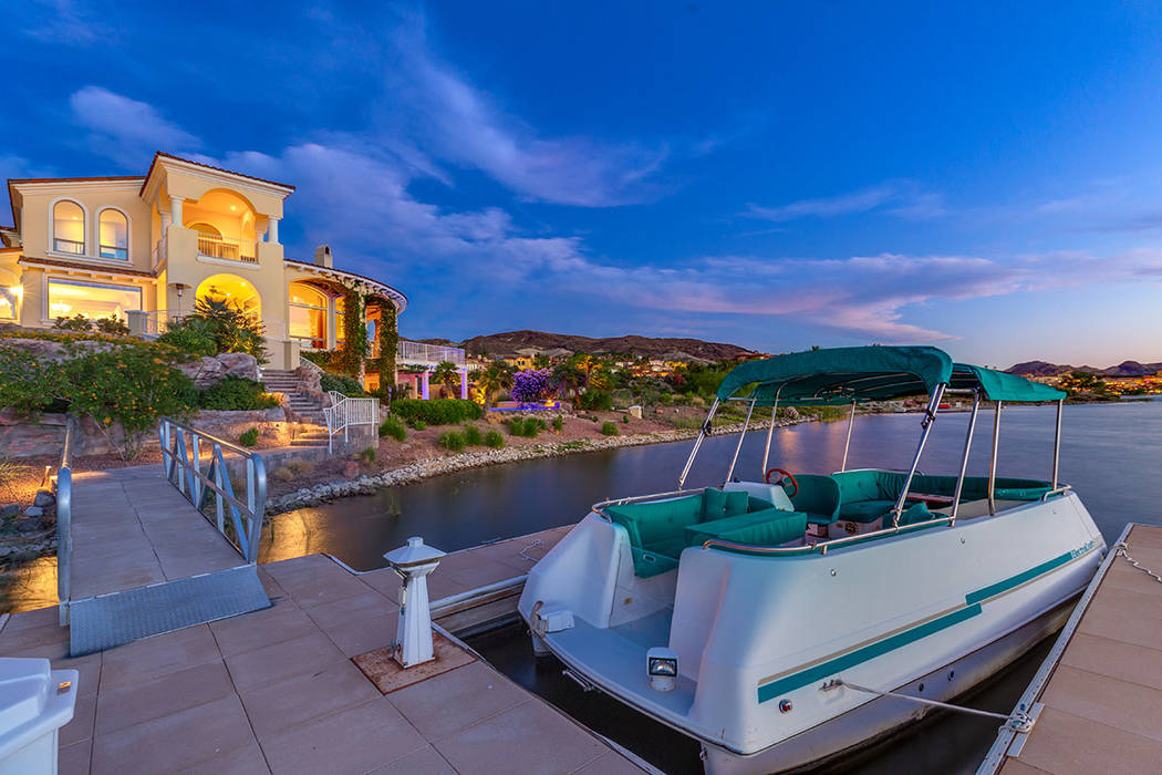 The home has its own boat dock. (Ivan Sher Group)