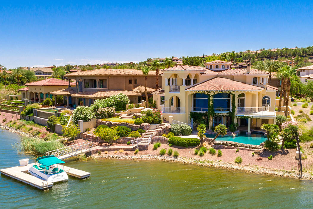 This Lake Las Vegas mansion has listed for $4.75 million. (Ivan Sher Group)