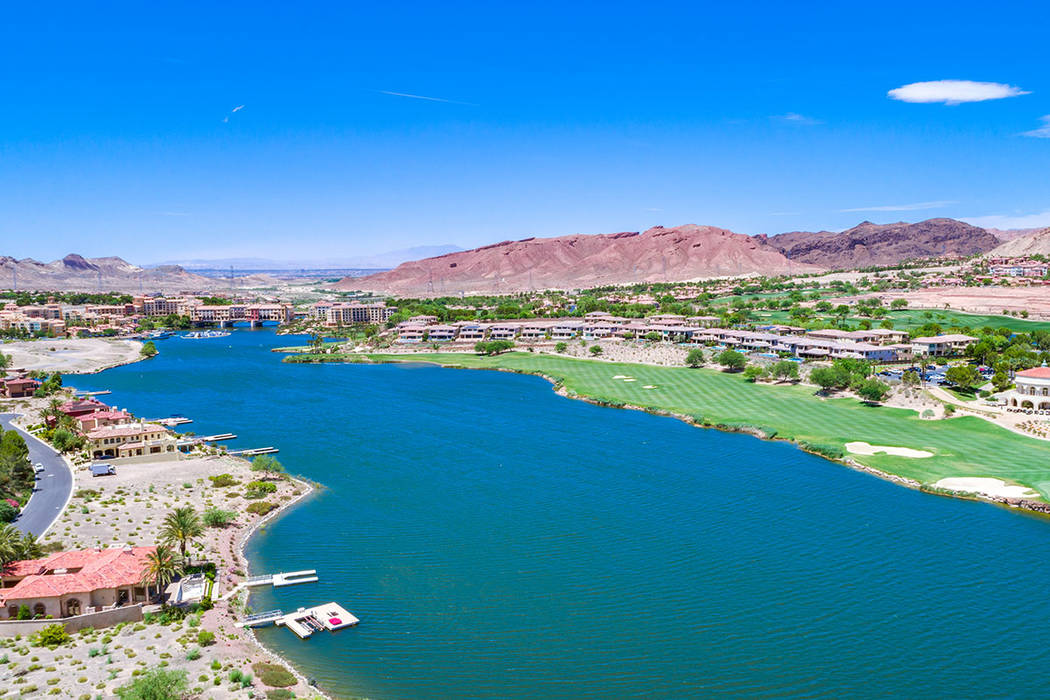 Lake Las Vegas is a Henderson community that features a 320-acre, man-made lake. (Ivan Sher Group)