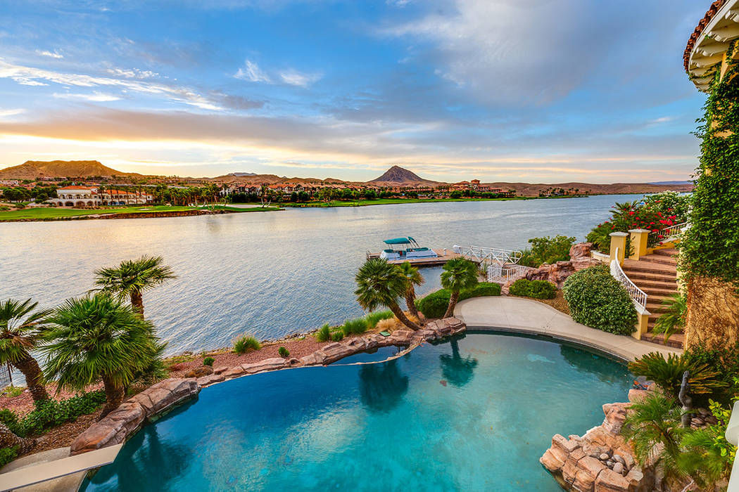 The pool over looks Lake Las Vegas. (Ivan Sher Group)