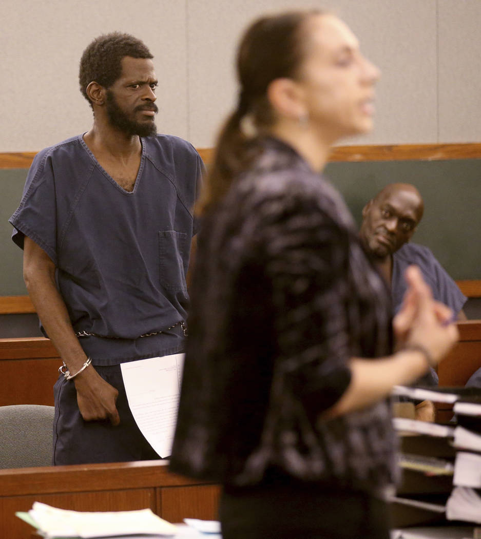 Clinton Taylor appears in court with his court-appointed public defender Sarah Hawkins at the R ...