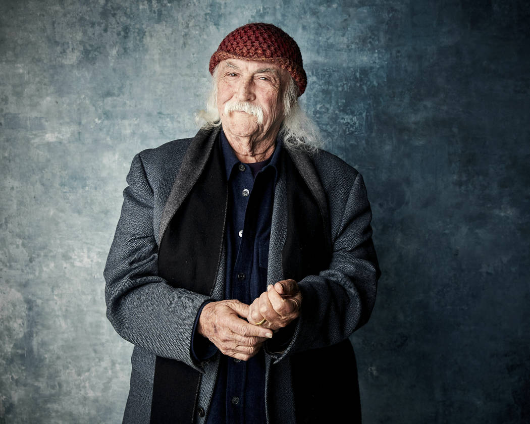 FILE - In this Jan. 26, 2019 file photo, David Crosby poses for a portrait to promote the film ...