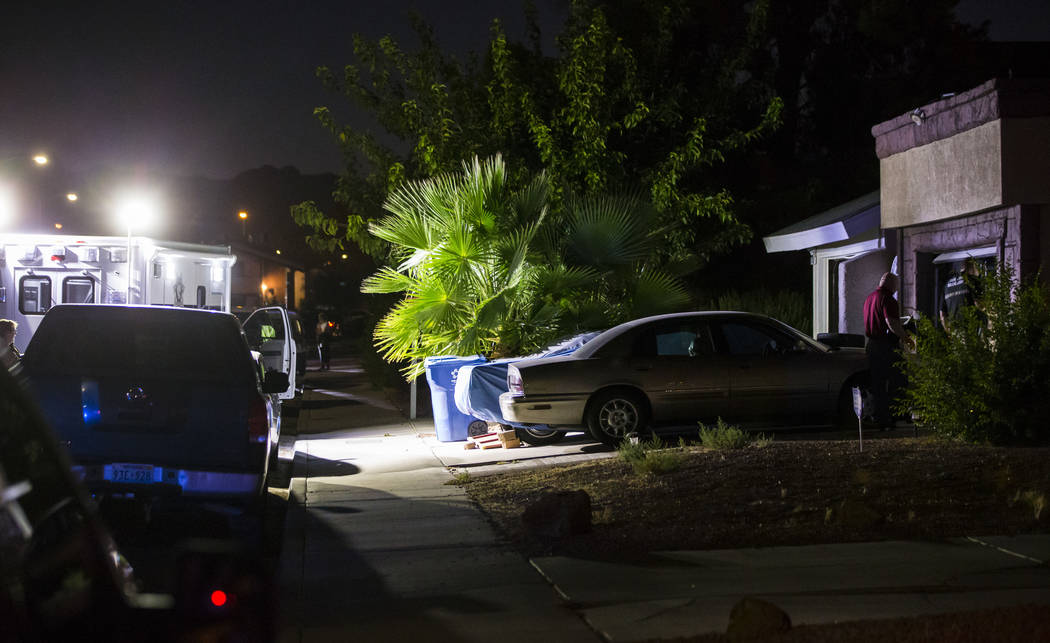 Las Vegas police search a Spring Valley home in relation to a possible homicide in Las Vegas on ...