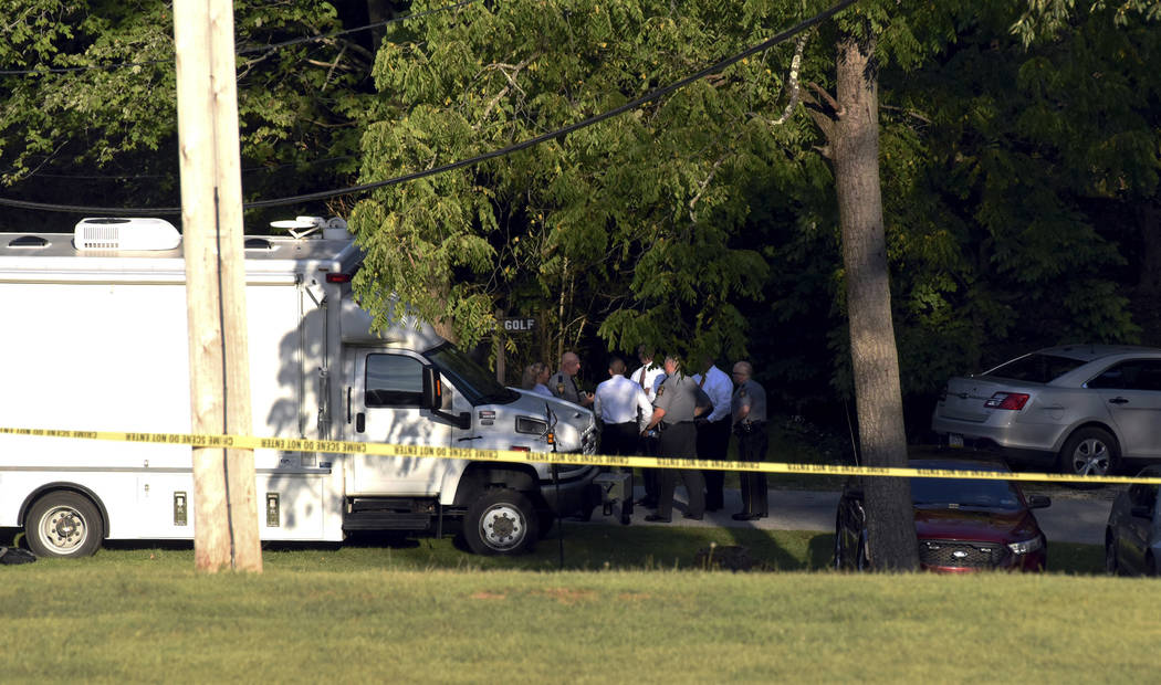 First responders survey the scene where the body of missing toddler Nalani Johnson was found in ...