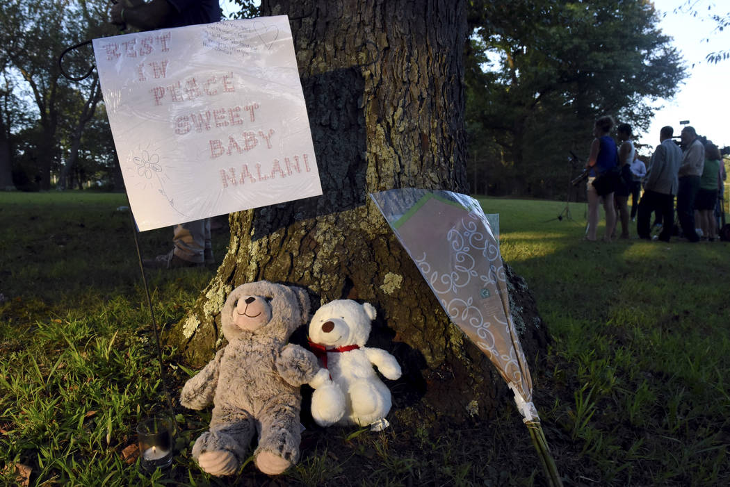 A memorial to missing toddler Nalani Johnson, a 1-year-old from Penn Hills, who was reported mi ...