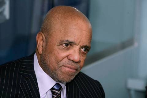 FILE- In an Oct. 21, 2014 file photo, Motown Records founder Berry Gordy Jr., is interviewed at ...