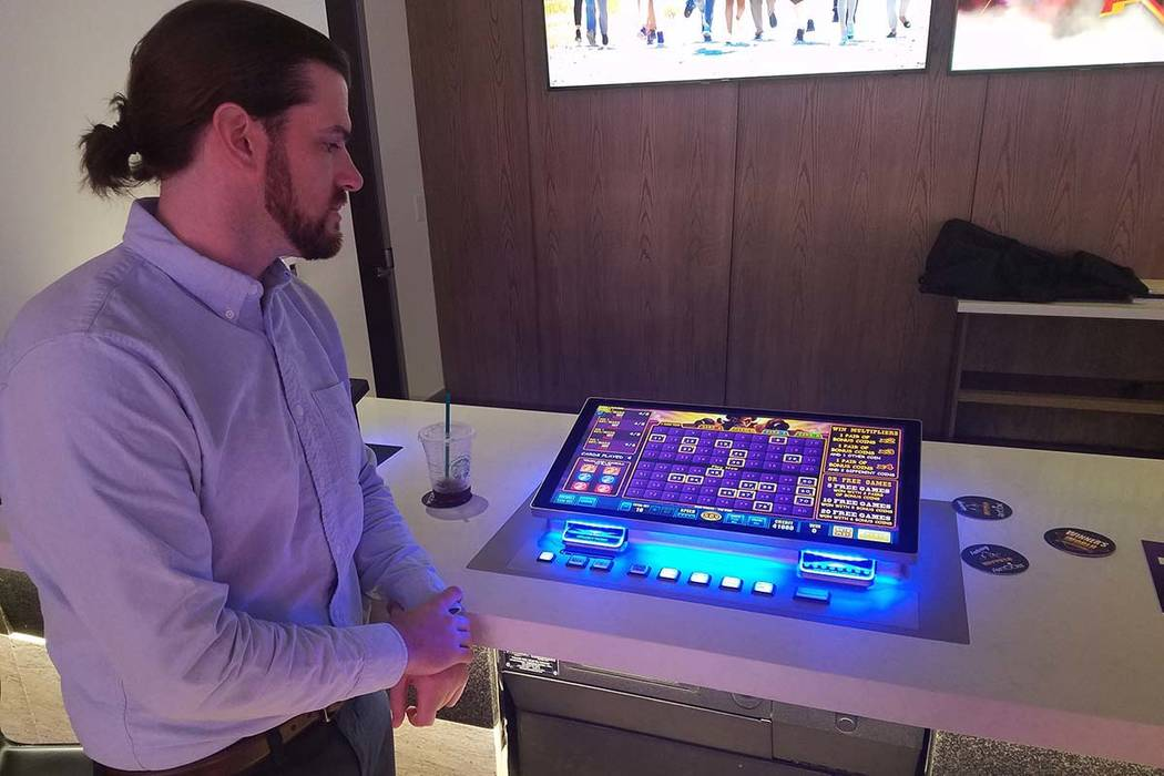 Nathan Drane, vice president of commercial strategy–game sales for Aristocrat Technologies, d ...