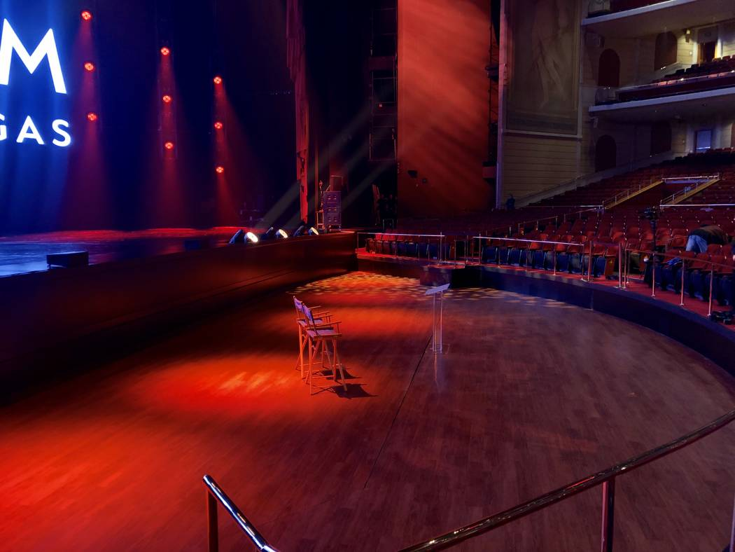 A look at the new general-admission section of the Colosseum at Caesars Palace on Wednesday, Se ...