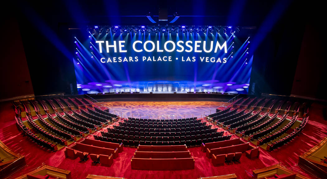 The new-look Colosseum at Caesars Palace was unveiled on Wednesday, Sept. 4, 2019 (Erik Kabik P ...