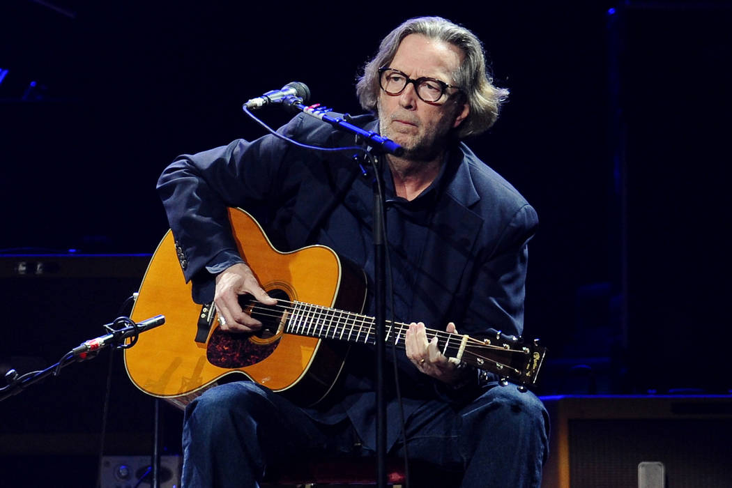 FILE - In this Feb. 18, 2010 file photo, Eric Clapton performs in concert at Madison Square Gar ...
