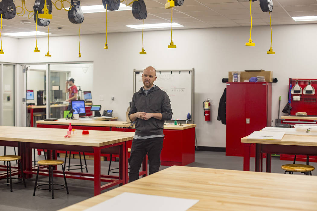RC Wondrly, making and innovations specialist, speaks to the Review-Journal at the new Makerspa ...