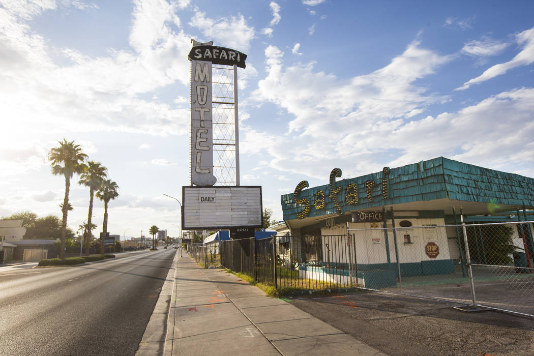 An exterior view of the Safari Motel on Fremont Street in downtown Las Vegas on Wednesday, Sept ...