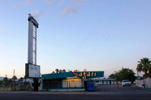 The Safari Motel at 2001 Fremont St., in Las Vegas, April 18, 2017. (Rachel Aston/Las Vegas Re ...