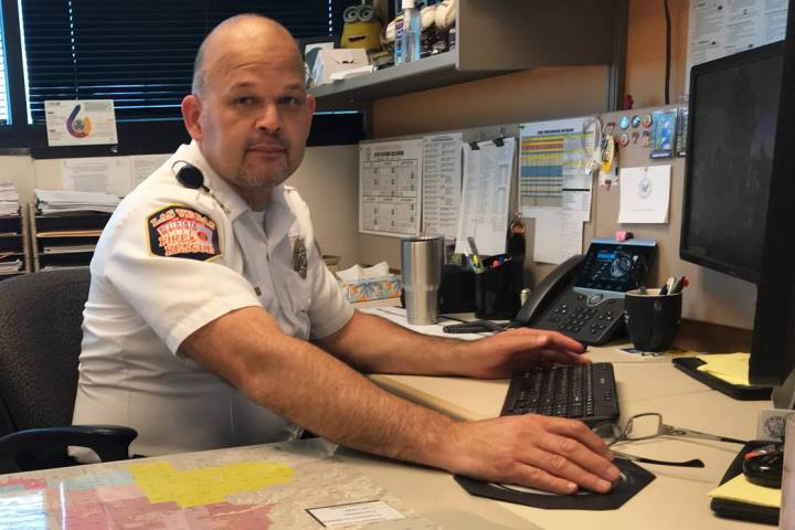 Deputy Fire Marshal Rick Rozier of the Las Vegas Fire Department helped design the new fire pro ...