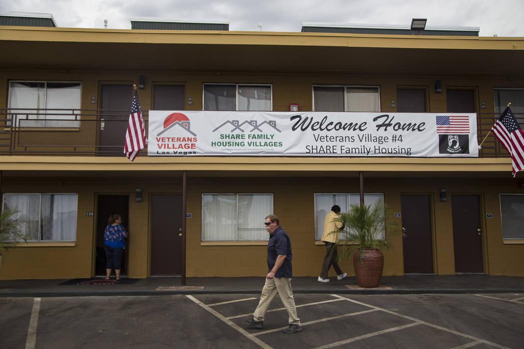 Veterans Village #4 during the grand opening in Las Vegas, Thursday, Sept. 5, 2019. The facilit ...