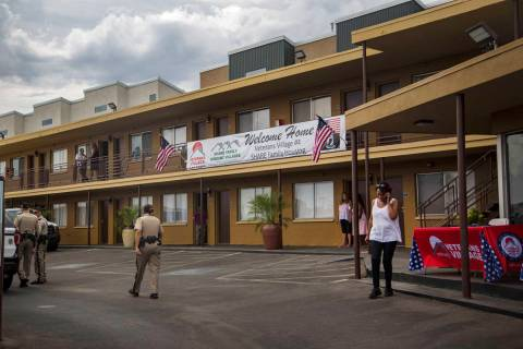 Veterans Village #4 during the grand opening in Las Vegas, Thursday, Sept. 5, 2019. The facilit ...