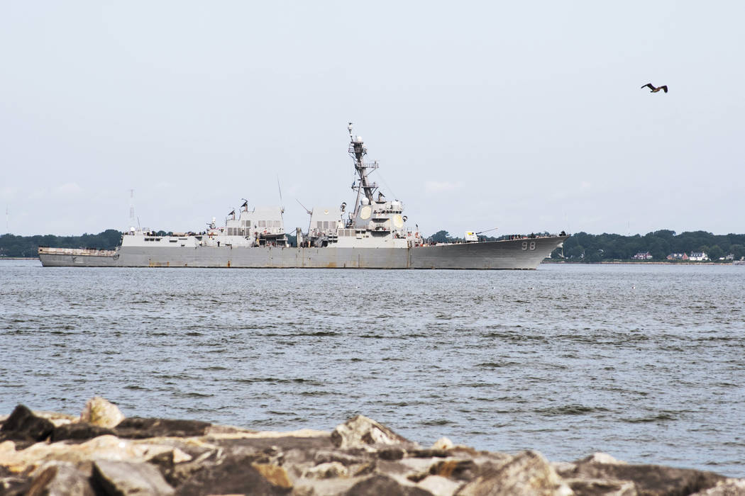 This image provided by the US Navy shows the Arleigh Burke-class guided missile destroyer USS F ...