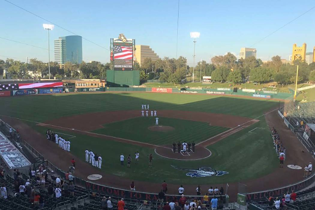 The Aviators get set to take on the River Cats on Wednesday, Sept. 4, 2019, at Raley Field in S ...