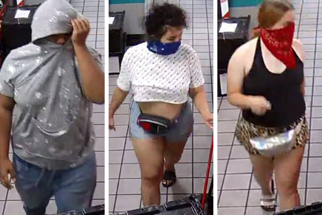 Three people are sought in an attempted robbery that occurred Friday, June 28, 2019, at a busin ...