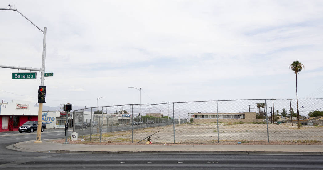 A vacant lot on Bonanza Road and Main Street in Las Vegas on Thursday, Sept. 5, 2019. The site ...