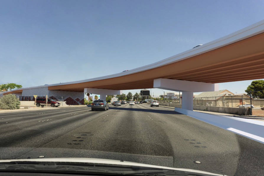 Rendering of what the redesigned above-grade portion of Swenson Street leading motorists exitin ...