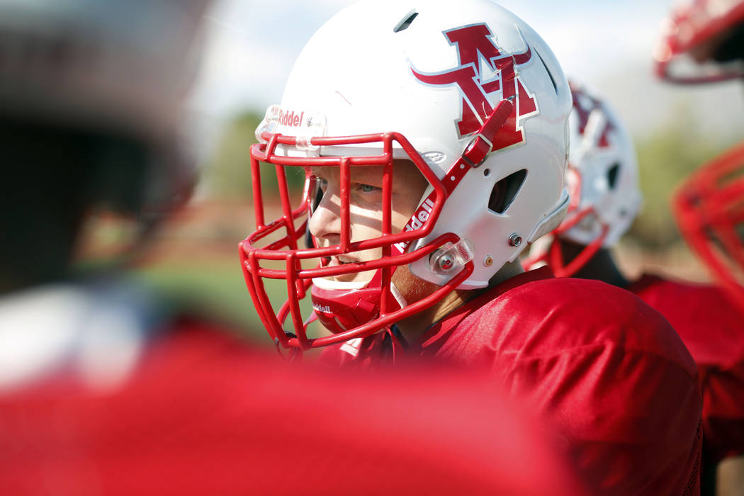 Arbor View's running back Justin Hausner (31) during practice at Arbor View High School in Las ...